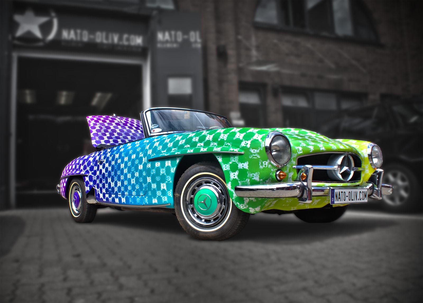 Car Wrapping videos Nato Oliv Hamburg